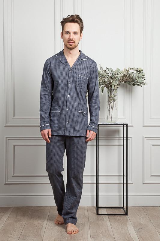 3a6a14d870e Серая пижама с контрастным кантом купить в интернет-магазине ...