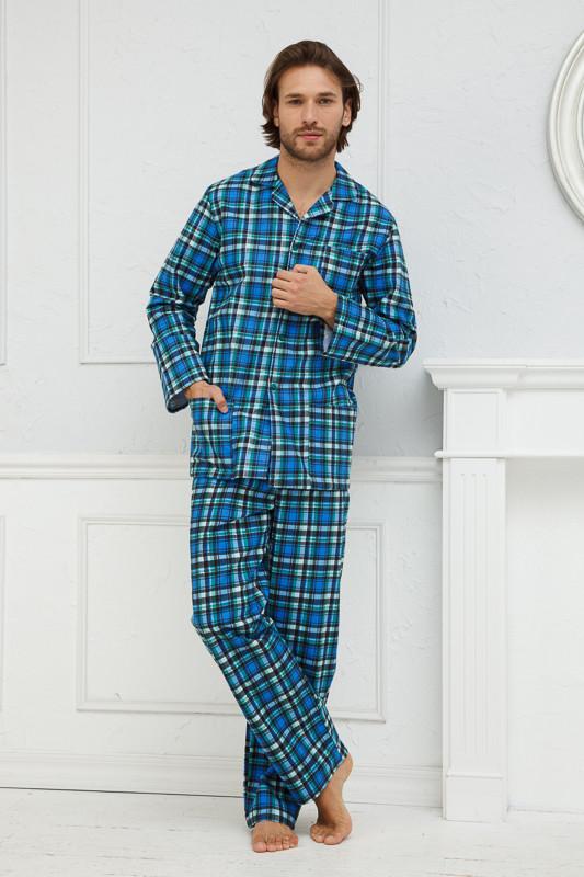 ec9d4ee18a5f8 Мужская пижама на пуговицах в клетку купить в интернет-магазине ...
