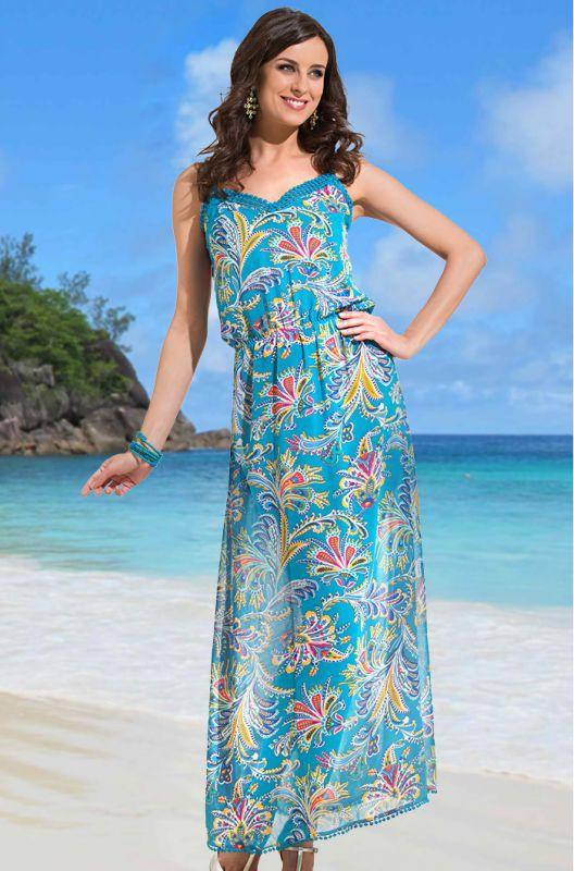 66d9558b29abc Шифоновое удлиненное платье-сарафан купить в интернет-магазине ...