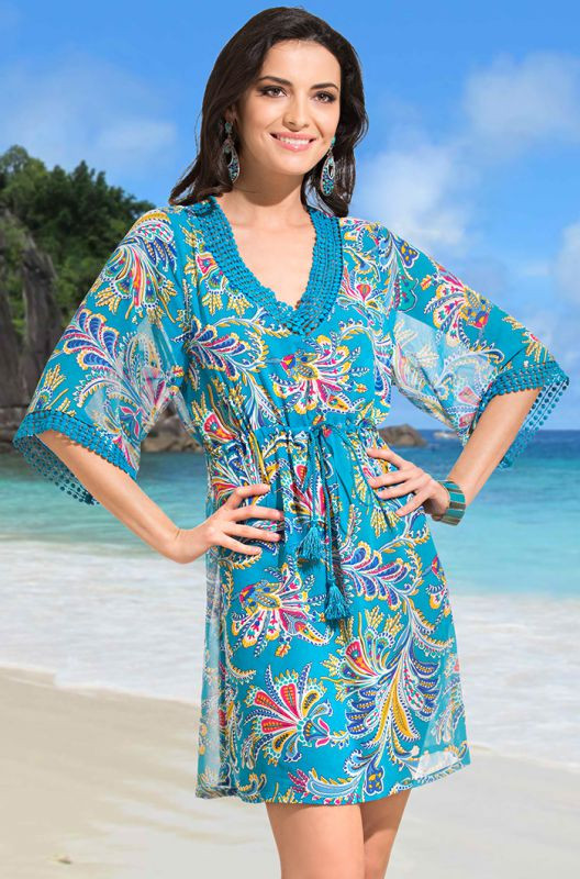 Пляжное платье для полных