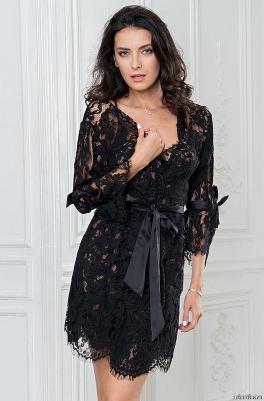 8a978e896cd9e Кружевной элегантный комплект Mia-Mia (халат и сорочка) купить в ...