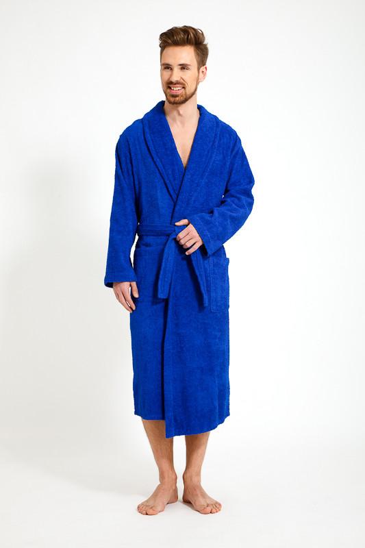d9bca12094c13 Синий махровый теплый мужской халат купить в интернет-магазине ...