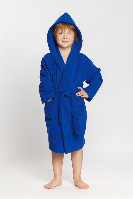 c8632d609851 Махровый синий детский халат для мальчика купить в интернет-магазине ...