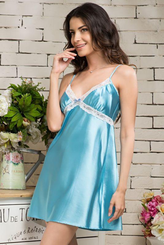 33ff4a98e16 Голубая сорочка с кружевом купить в интернет-магазине Comfortstory