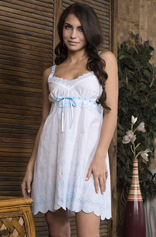 9c47854a5cf64 Бело-голубая хлопковая сорочка купить в интернет-магазине Comfortstory