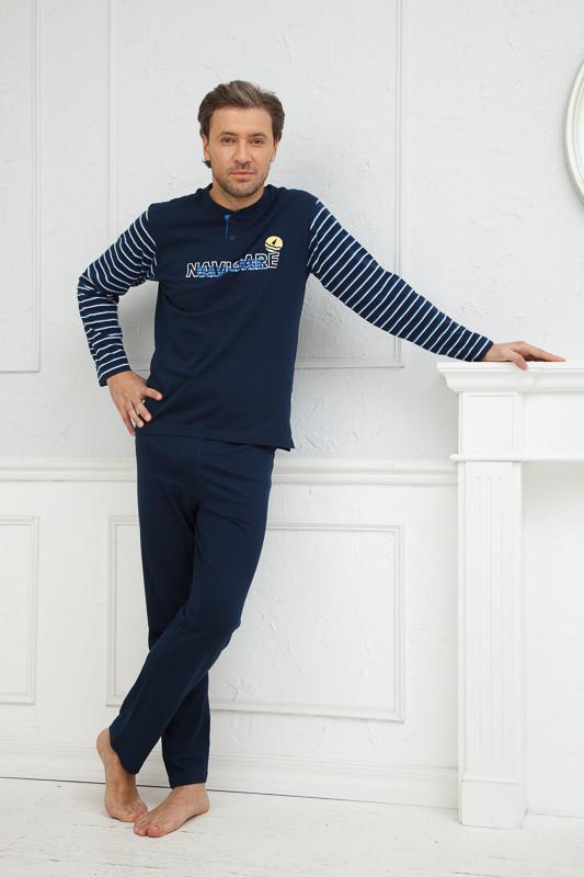 5418d3962a06f Мужской голубой домашний костюм Navigare купить в интернет-магазине ...