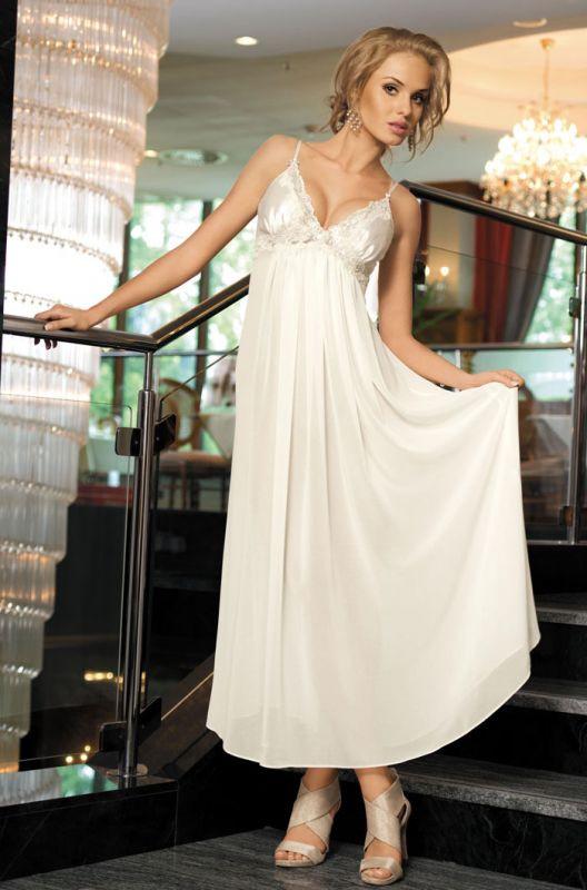 30acb399ffb Роскошная длинная белая сорочка купить в интернет-магазине Comfortstory