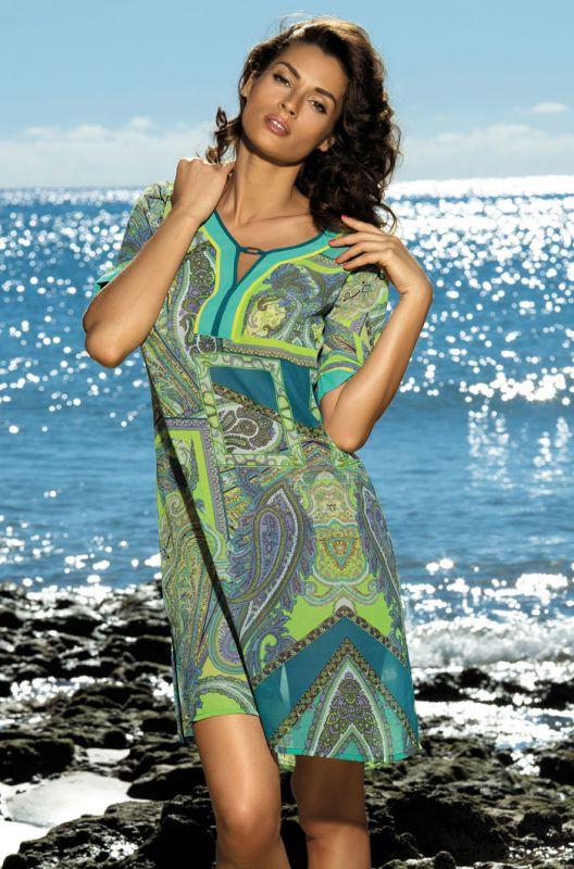 513726fd68c2a Пляжное платье Mia-Mia фисташкового цвета купить в интернет-магазине ...