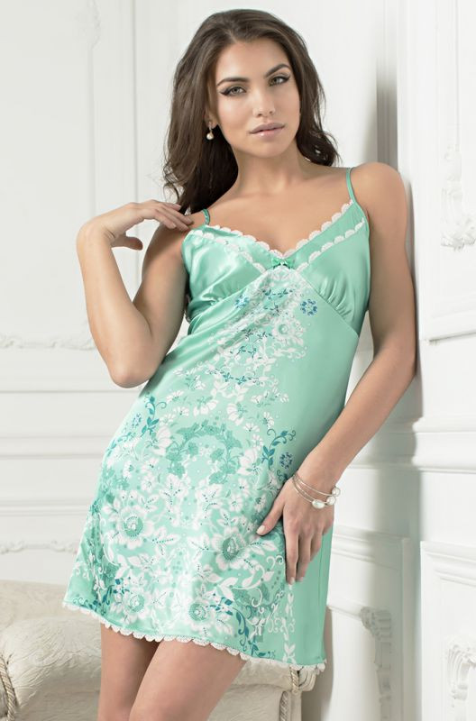 17147d168d7bc Сорочка шелковая цвета тиффани купить в интернет-магазине Comfortstory