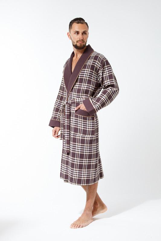 Купить вафельный мужской халат в интернете