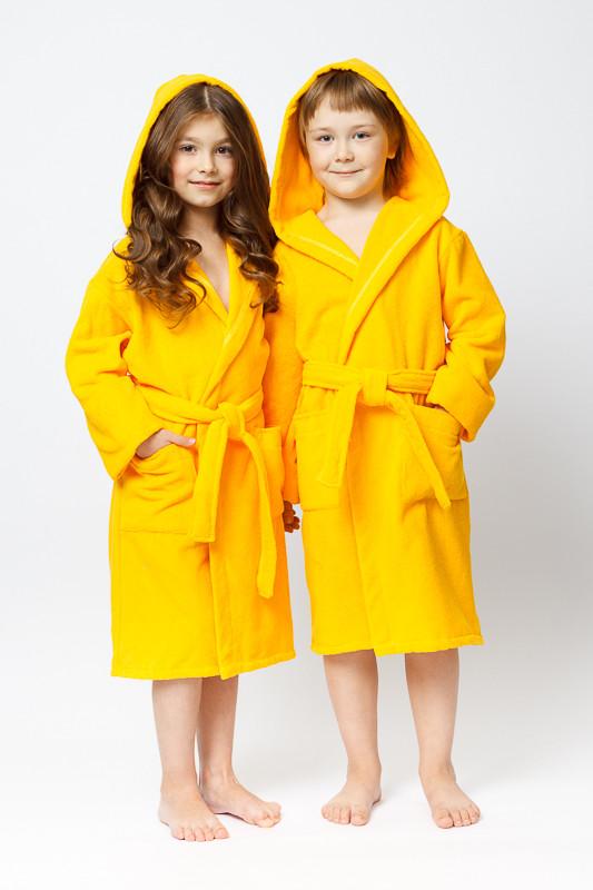 4d402b69d2ba Желтый махровый халат с капюшоном купить в интернет-магазине ...
