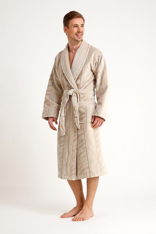 89aa45d65aab Пепельный мужской махровый халат купить в интернет-магазине Comfortstory