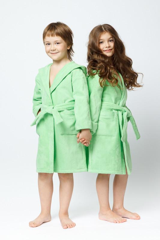 281c813ee7d37 Зеленый махровый халат с капюшоном купить в интернет-магазине ...