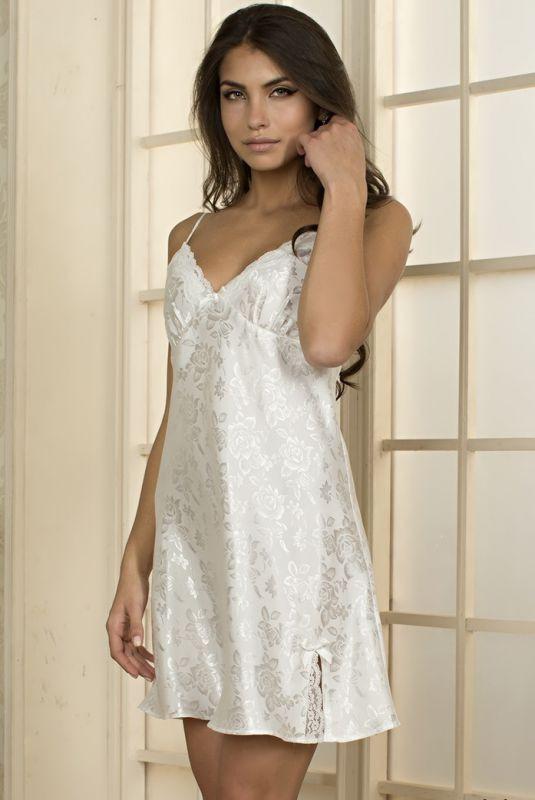 86266d16dcb Женская молочная шелковая сорочка купить в интернет-магазине ...