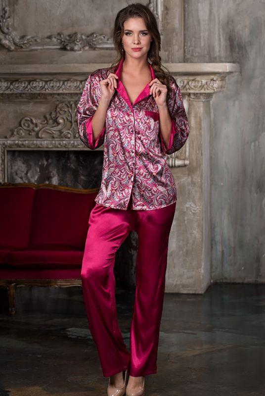 22d361c0eac Женский шелковый пижамный костюм