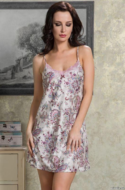 a5754b4c910 Шелковая укороченная сорочка жемчужный рубин купить в интернет ...