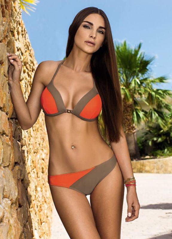 da72d3e9be525 Оранжево-серый купальник Lorin купить в интернет-магазине Comfortstory