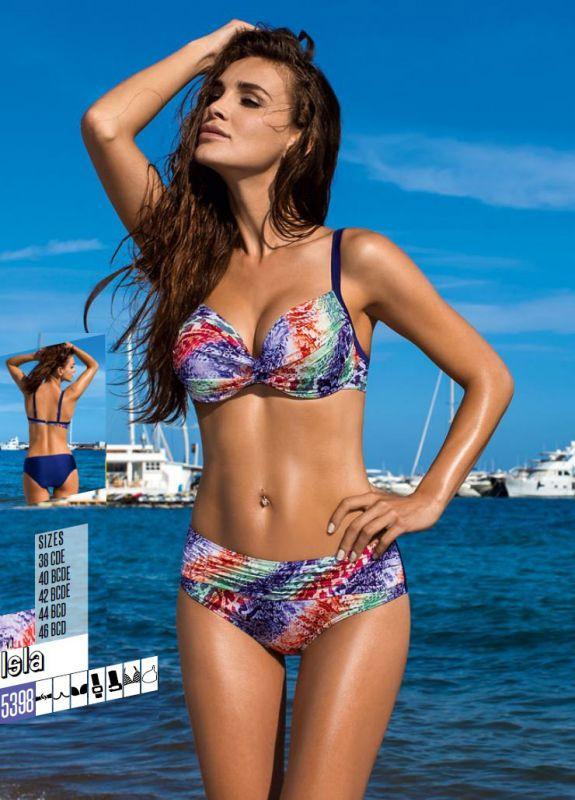 15674f985a56 Синий купальник Lorin с принтом купить в интернет-магазине Comfortstory