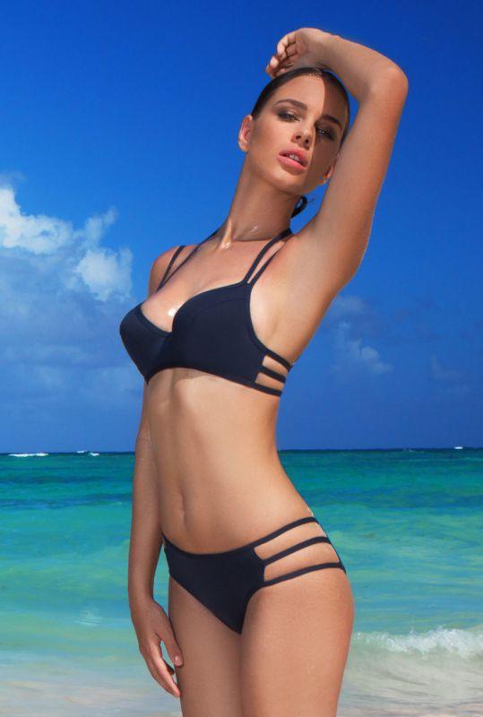 f567947514e46 Темно-синий купальник She push-up купить в интернет-магазине ...