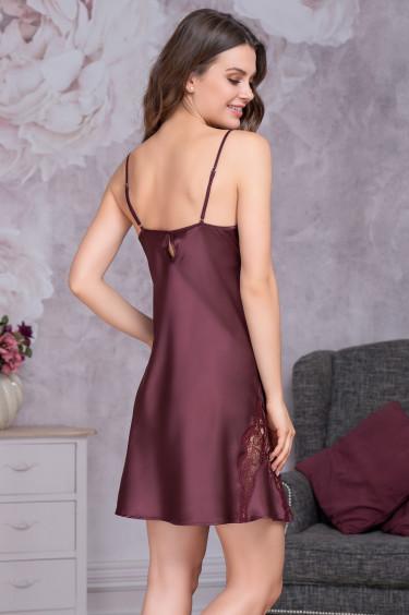 d0888c794af Женская шелковая сорочка цвета Бургунди · Женская шелковая сорочка цвета  Бургунди
