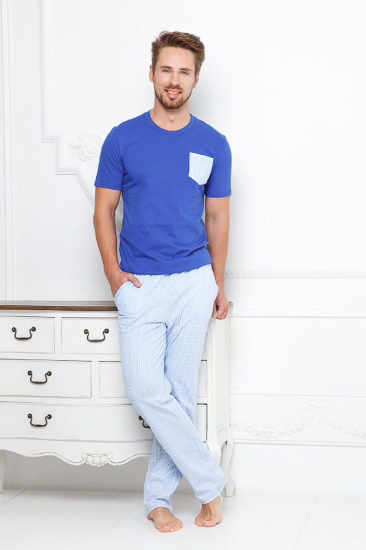 033224ff3d7 Ярко-синий домашний мужской костюм Monti купить в интернет-магазине ...