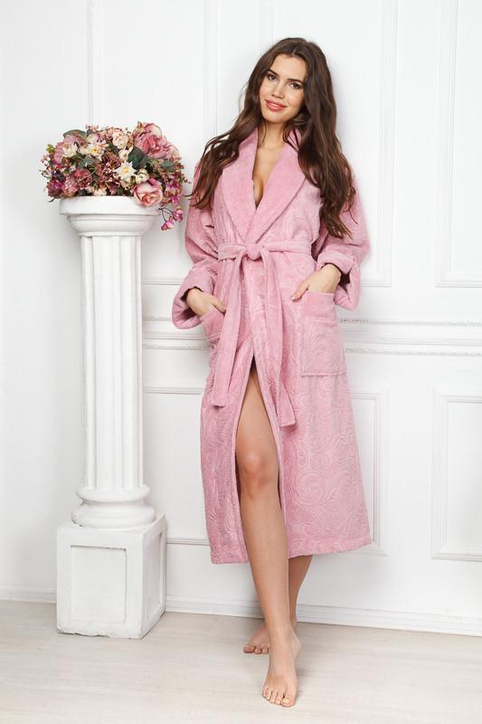 1180cf9a32bc Бамбуковый удлиненный халат сухая роза купить в интернет-магазине ...